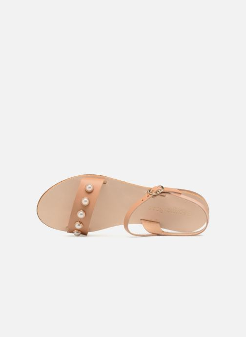 Sandales et nu-pieds Georgia Rose Docultura Marron vue gauche
