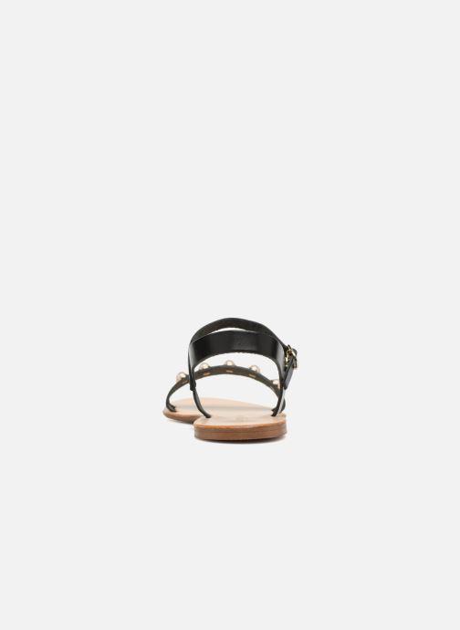 Sandales et nu-pieds Georgia Rose Docultura Noir vue droite