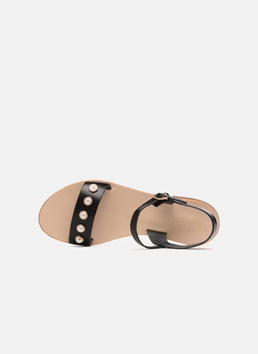 Sandales et nu-pieds Georgia Rose Docultura Noir vue gauche