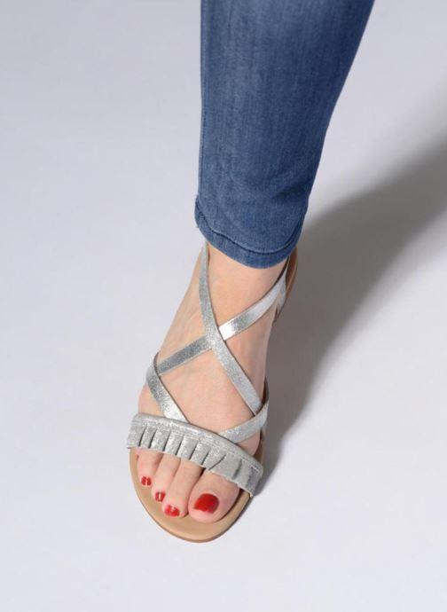 Sandales et nu-pieds Georgia Rose Dovolant Argent vue bas / vue portée sac