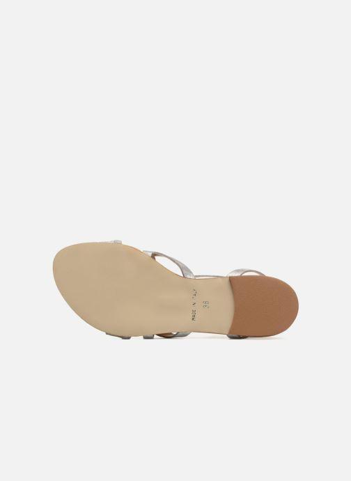 Sandales et nu-pieds Georgia Rose Dovolant Argent vue haut