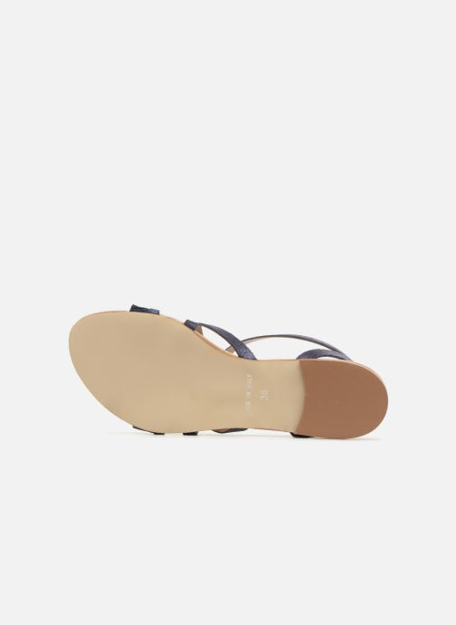 Sandales et nu-pieds Georgia Rose Dovolant Bleu vue haut