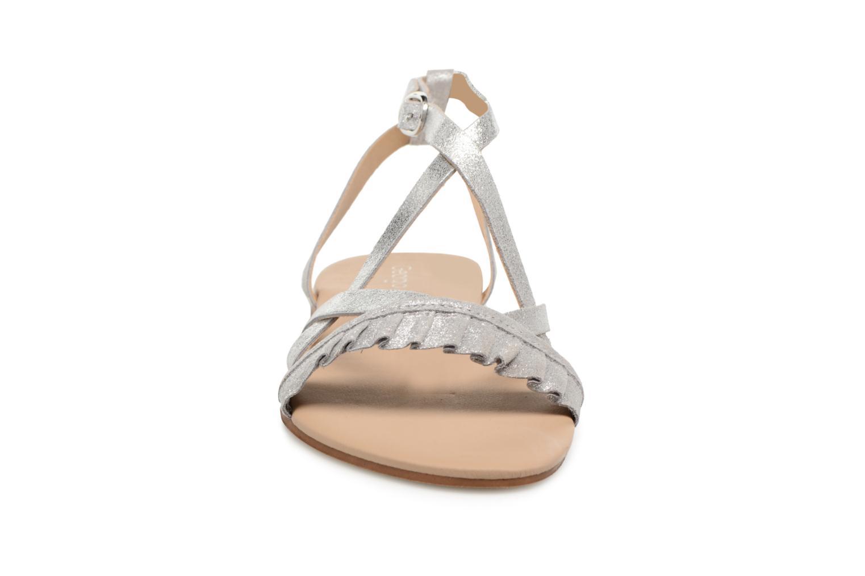 Sandales et nu-pieds Georgia Rose Dovolant Argent vue portées chaussures