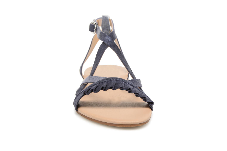 Sandales et nu-pieds Georgia Rose Dovolant Bleu vue portées chaussures