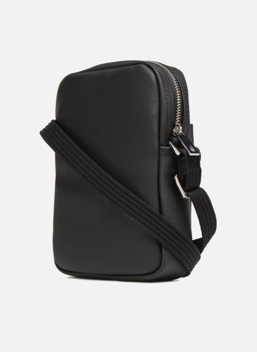 Bolsos de hombre Lacoste Men'S Classic Slim Vertical Camera Bag Negro vista lateral derecha