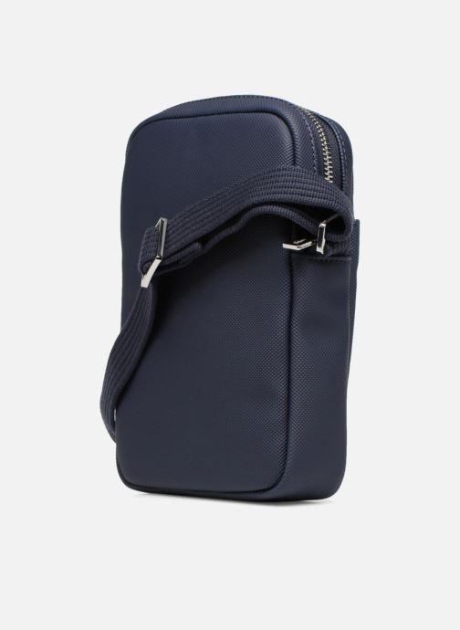 Sacs homme Lacoste Men'S Classic Slim Vertical Camera Bag Bleu vue droite