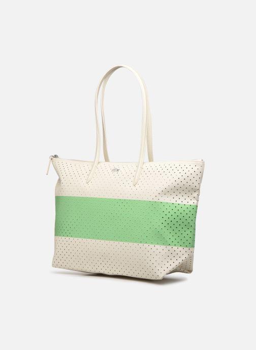 Handtassen Lacoste L SHOPPING BAG Seasonal Wit model