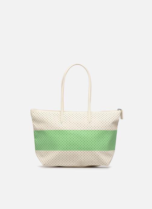 Handtassen Lacoste L SHOPPING BAG Seasonal Wit voorkant