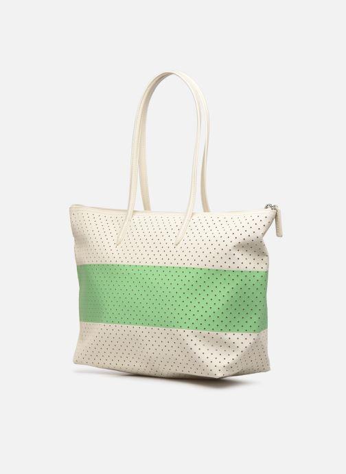 Handtassen Lacoste L SHOPPING BAG Seasonal Wit rechts