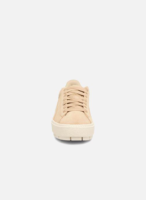Sneaker Puma Suede Platform Trace Wn's beige schuhe getragen