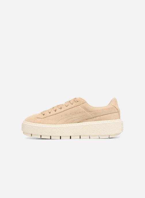 Sneaker Puma Suede Platform Trace Wn's beige ansicht von vorne