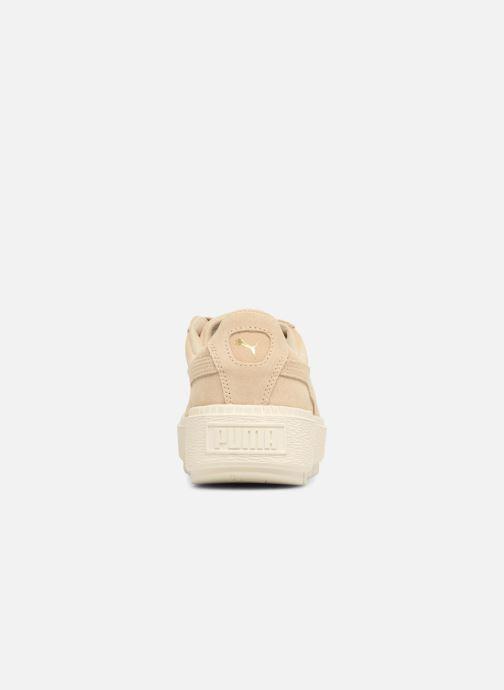 Sneaker Puma Suede Platform Trace Wn's beige ansicht von rechts