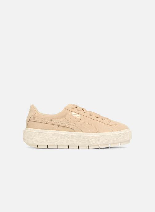 Sneaker Puma Suede Platform Trace Wn's beige ansicht von hinten