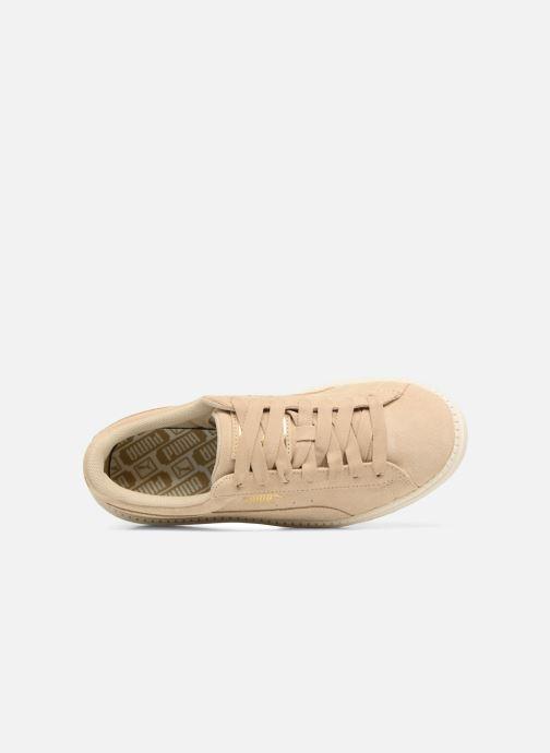 Sneaker Puma Suede Platform Trace Wn's beige ansicht von links