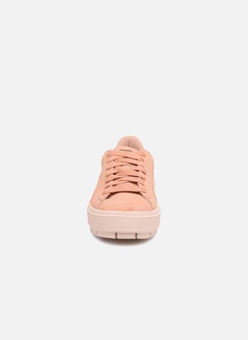 Baskets Puma Suede Platform Trace Wn's Rose vue portées chaussures