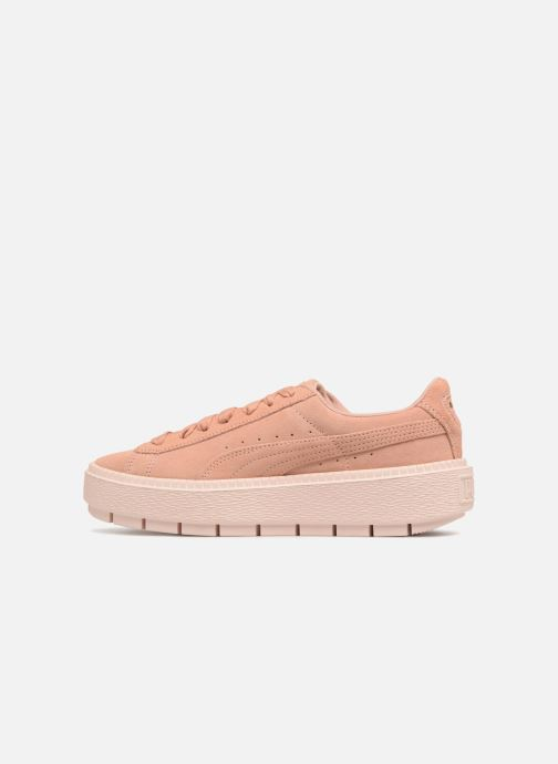 Sneakers Puma Suede Platform Trace Wn's Roze voorkant