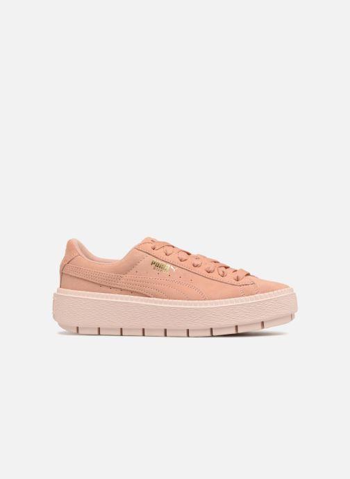 Sneakers Puma Suede Platform Trace Wn's Roze achterkant