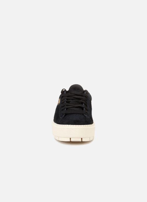 Sneaker Puma Suede Platform Trace Wn's schwarz schuhe getragen