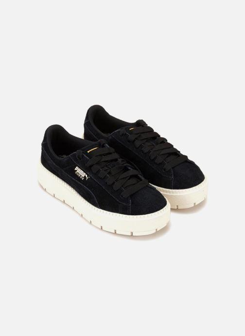 Sneaker Puma Suede Platform Trace Wn's schwarz ansicht von vorne