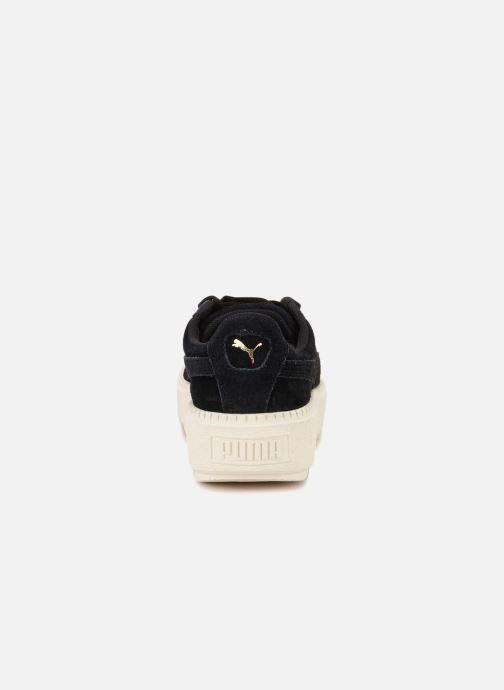 Sneaker Puma Suede Platform Trace Wn's schwarz ansicht von rechts