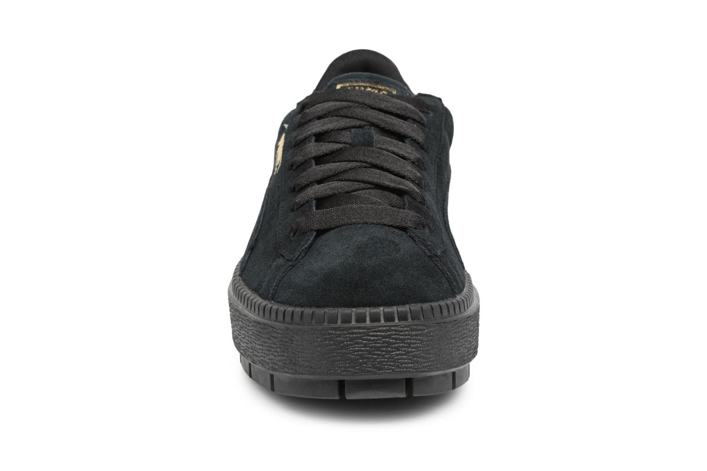 Baskets Puma Suede Platform Trace Wn's Noir vue portées chaussures