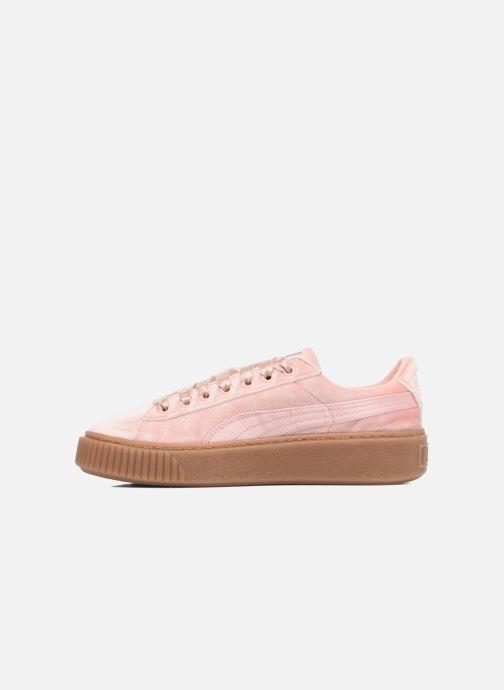 Sneakers Puma W Basket Platform VS Rosa immagine frontale