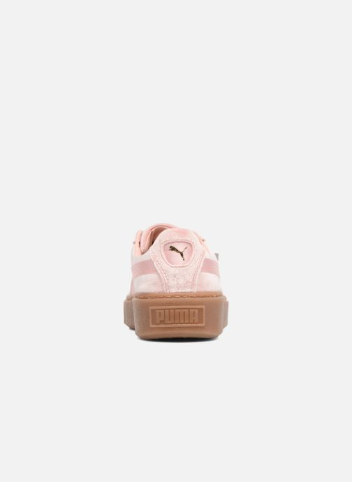 Puma W Basket Platform VS (Rose) Baskets chez Sarenza (314367)
