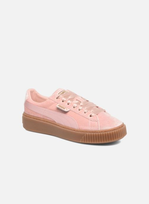Baskets Puma W Basket Platform VS Rose vue détail/paire