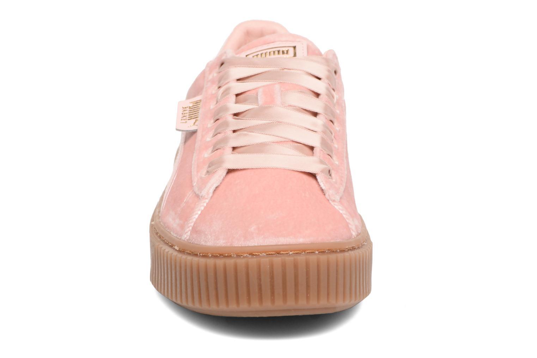 Baskets Puma W Basket Platform VS Rose vue portées chaussures