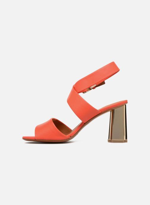 Sandales et nu-pieds Clergerie ZORA Orange vue face