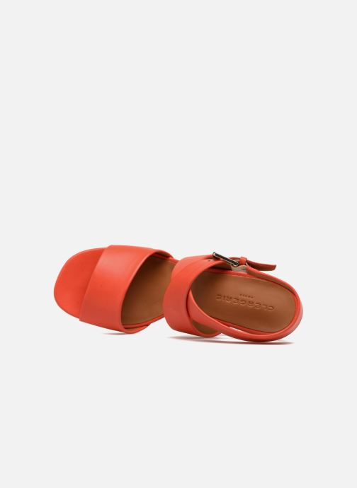 Sandales et nu-pieds Clergerie ZORA Orange vue gauche