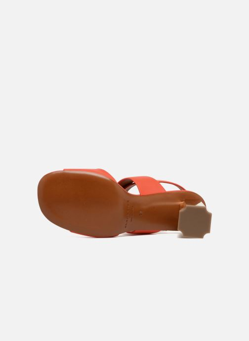 Sandales et nu-pieds Clergerie ZORA Orange vue haut