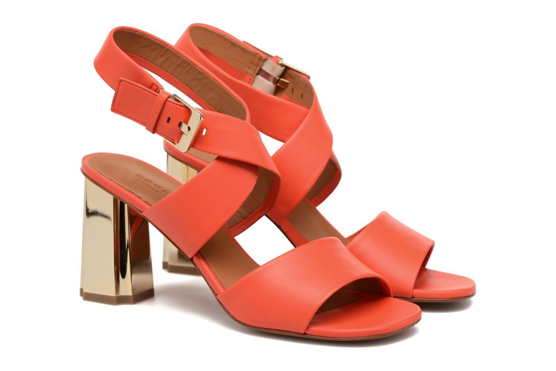 Sandals Clergerie ZORA Orange 3/4 view