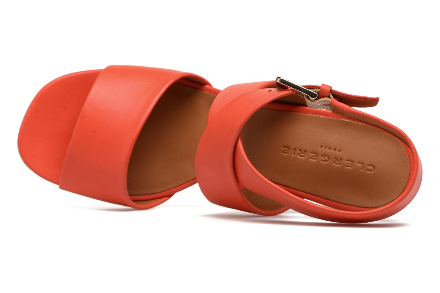 Sandals Clergerie ZORA Orange view from the left