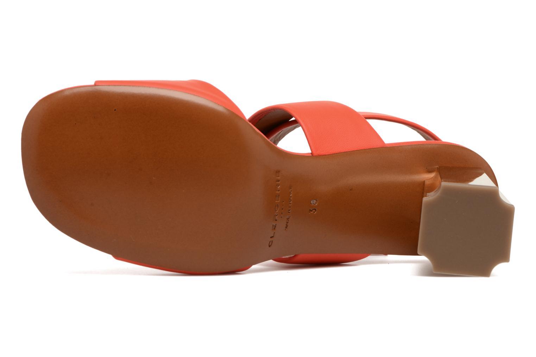 Sandals Clergerie ZORA Orange view from above