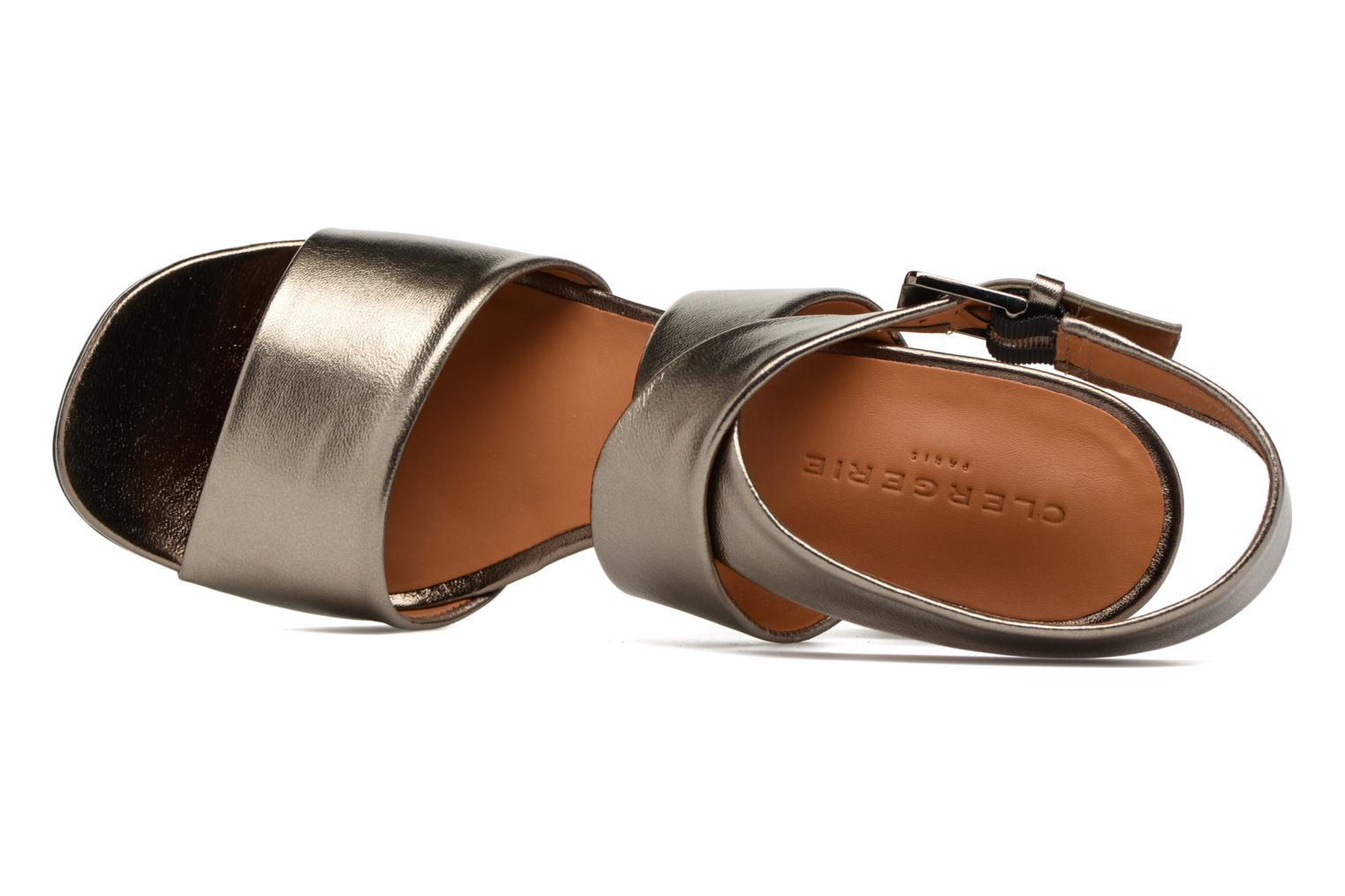 Sandals Clergerie ZORA Bronze and Gold view from the left
