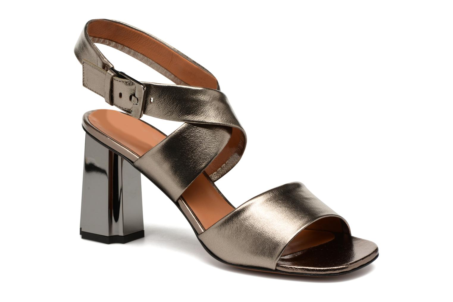 Sandals Clergerie ZORA Bronze and Gold detailed view/ Pair view