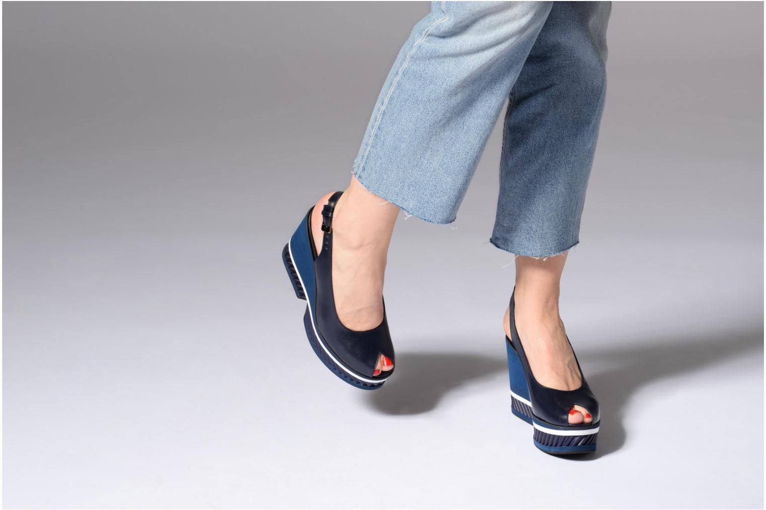 Sandals Clergerie DALLAN Blue view from underneath / model view