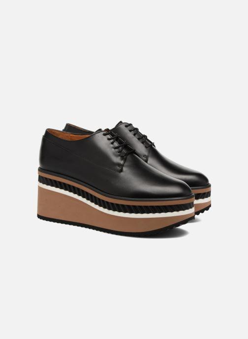 Zapatos con cordones Clergerie LOMIA Negro vista 3/4