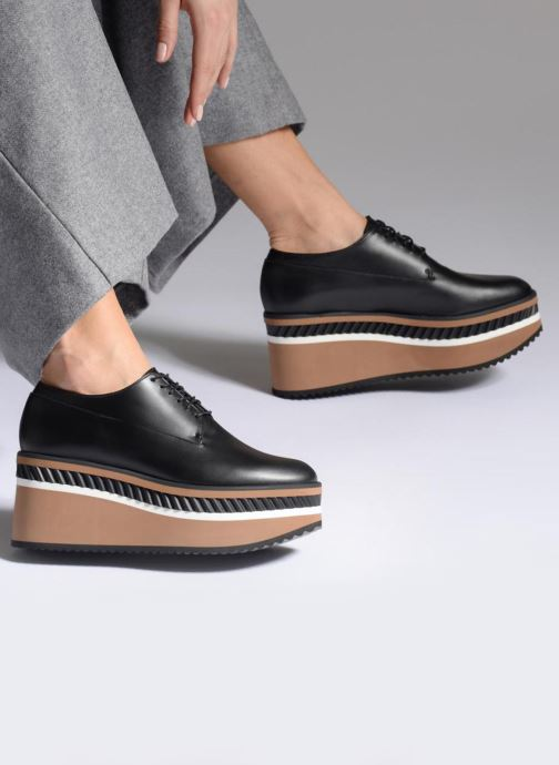 Chaussures à lacets Clergerie LOMIA Noir vue bas / vue portée sac