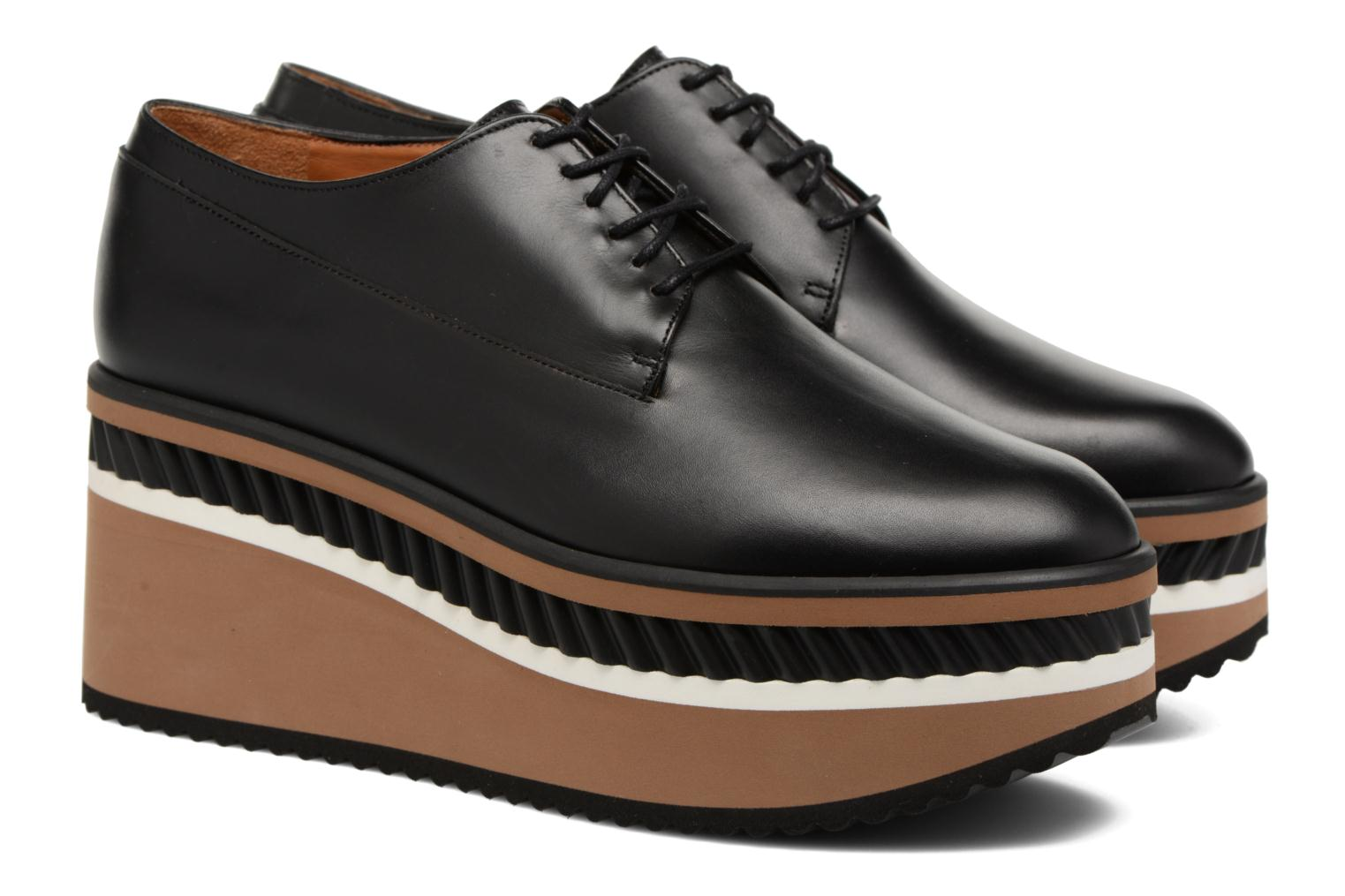 Lace-up shoes Clergerie LOMIA Black 3/4 view