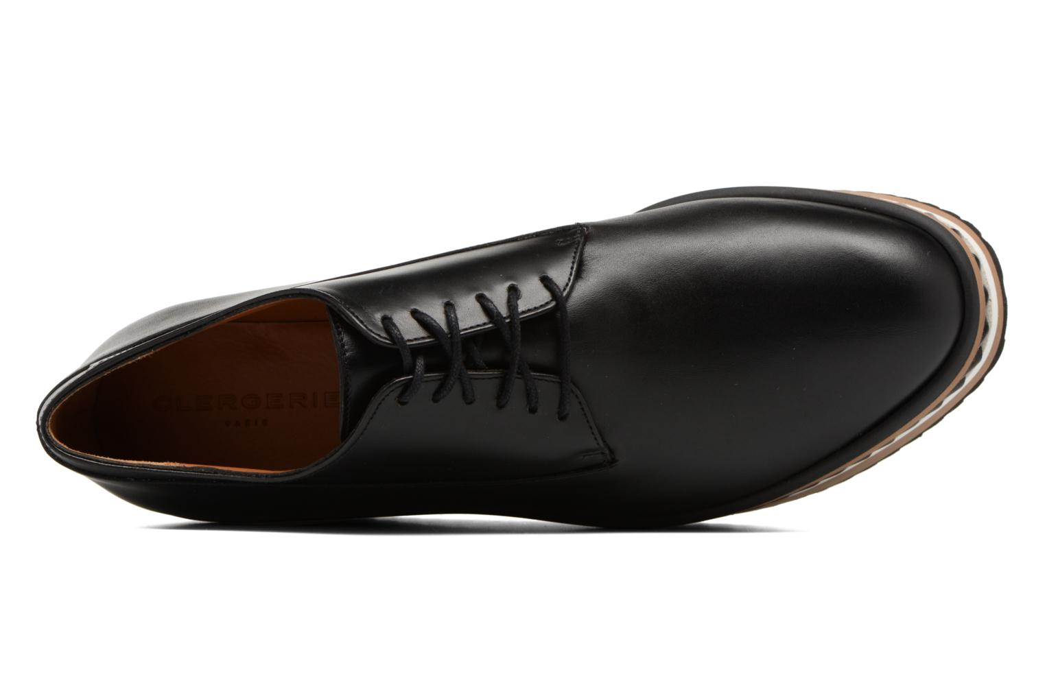 Lace-up shoes Clergerie LOMIA Black view from the left