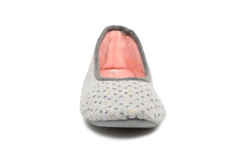 Chaussons Dim D Basia Gris vue portées chaussures