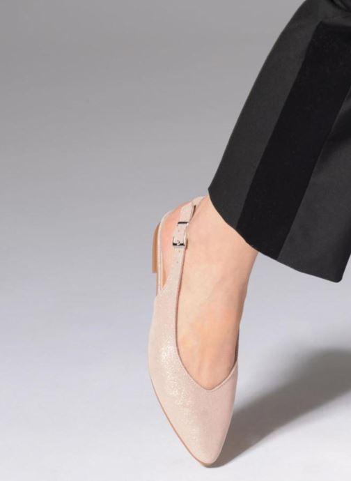 Bailarinas Esprit Marni sling Rosa vista de abajo