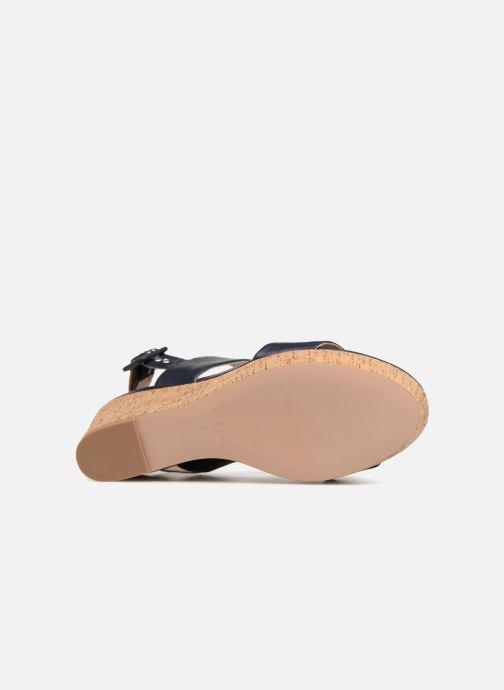 Sandales et nu-pieds Esprit Anna Bleu vue haut