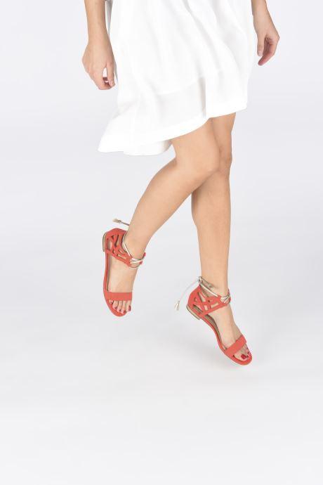 Sandales et nu-pieds I Love Shoes FELICIA Rouge vue bas / vue portée sac