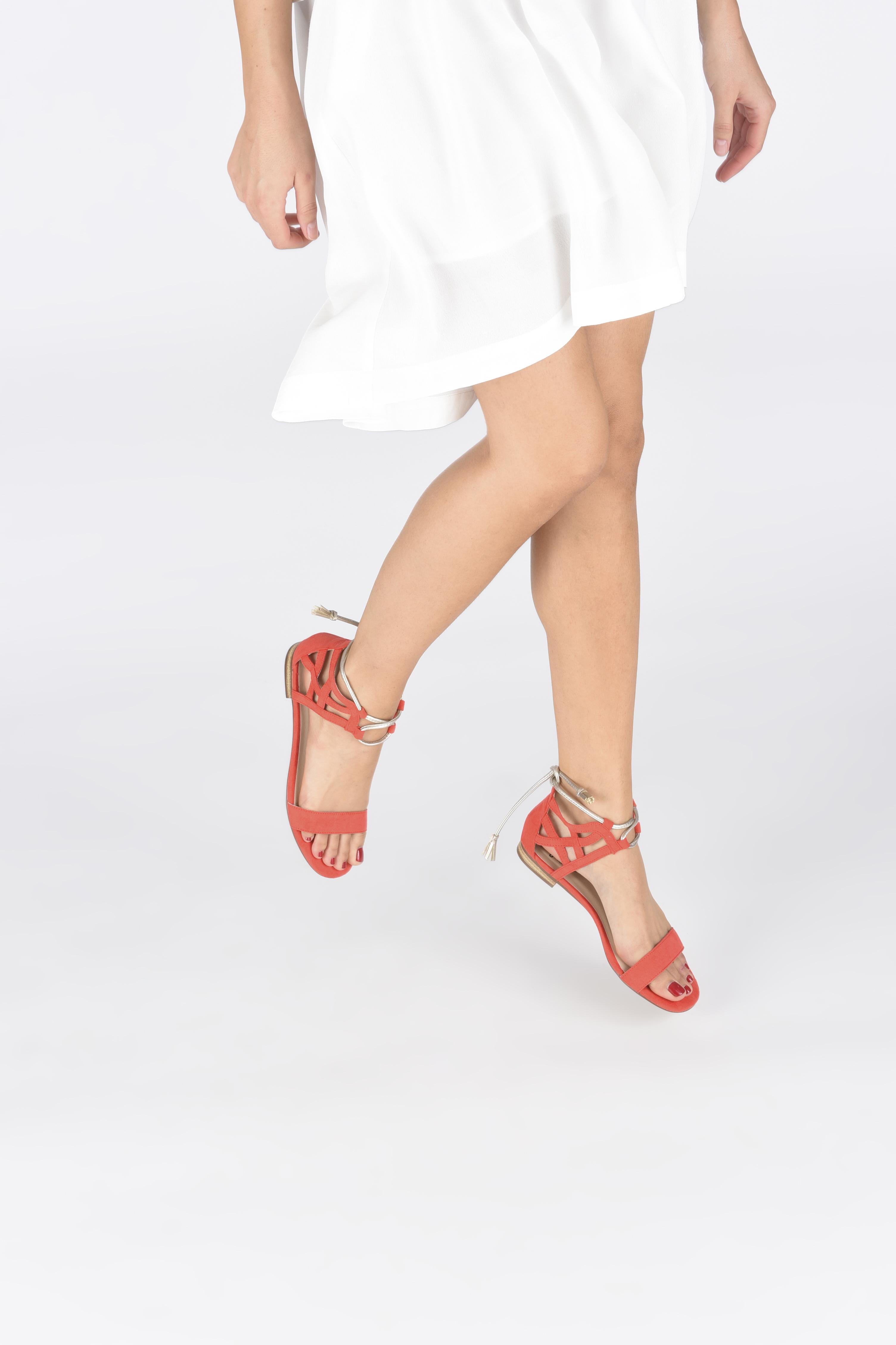 Sandali e scarpe aperte I Love Shoes FELICIA Rosso immagine dal basso