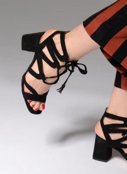 Sandales et nu-pieds I Love Shoes FELICINA Noir vue bas / vue portée sac