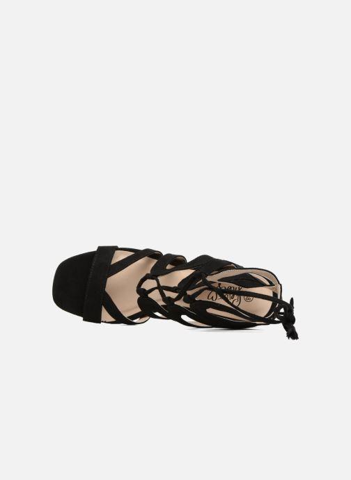 Sandales et nu-pieds I Love Shoes FELICINA Noir vue gauche