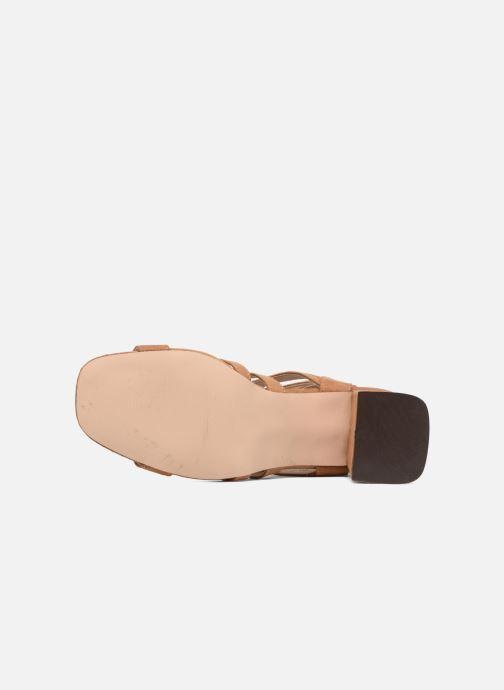 Sandales et nu-pieds I Love Shoes FELICINA Marron vue haut